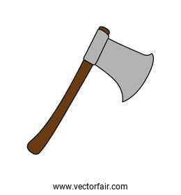 woodcutters ax isolated icon