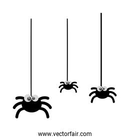 cute spiders hangingg halloween decoration