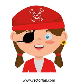 little kid disguised as a pirate