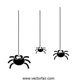 cute spiders hanging halloween decoration