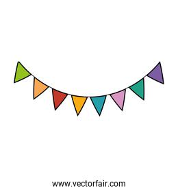 party garlands isolated icon