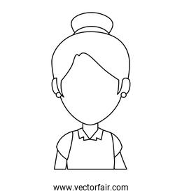 little girl student with uniform character