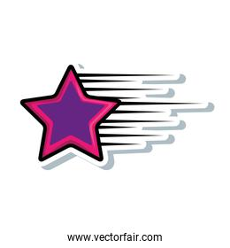 star fast isolated icon