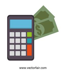 calculator device with dollars