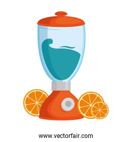 blender electric with oranges