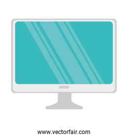 monitor computer isolated icon