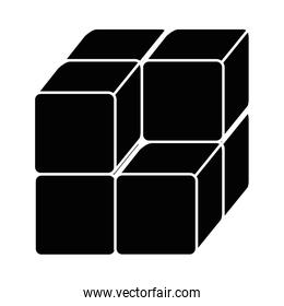 cube with blocks icon