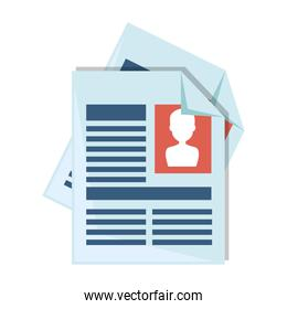 curriculum vitae isolated icon
