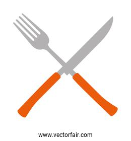 fork and knife cutlery tool icon