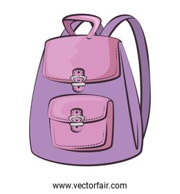 womans backpack isolated icon