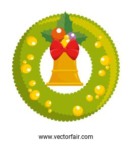 christmas crown with bell decorative