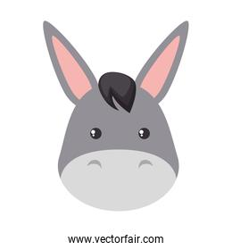 cute mule character icon