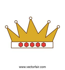 king crown isolated icon