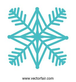 snow flake isolated icon