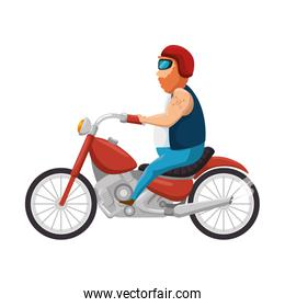 rough motorcyclist avatar character