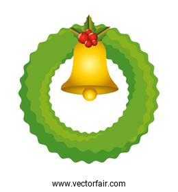 christmas crown with bell decorative icon