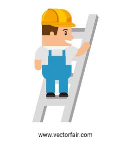 funny builder in stairs avatar character