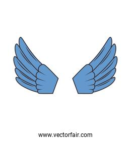 wings open isolated icon