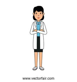 woman doctor avatar character icon