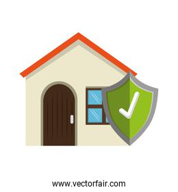 house with shield check icon