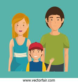 father and mother with son