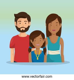 father and mother with daughter