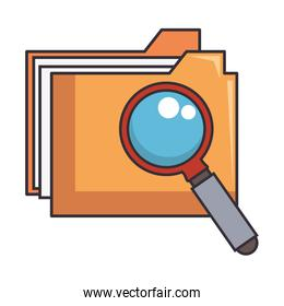 folder document with magnifying glass