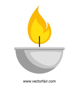 candle flame isolated icon