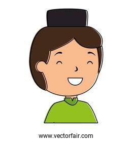 muslim boy with hat avatar character