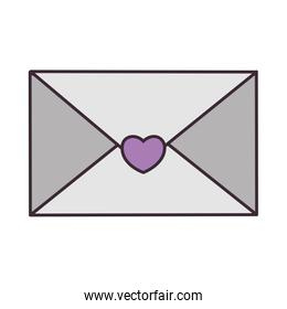 love envelope with heart