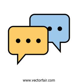 speech bubbles isolated icon