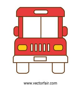 bus front isolated icon