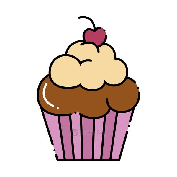 delicious and sweet cupcake