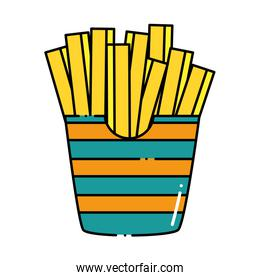 delicious french fries icon
