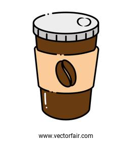 delicious coffee in plastic cup