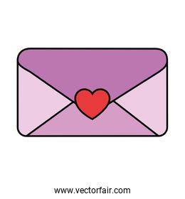envelope with heart seal