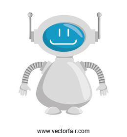 technological robot character icon