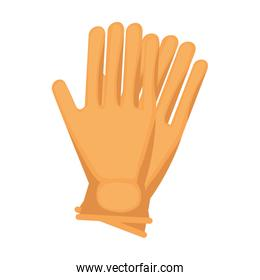 clean gloves isolated icon