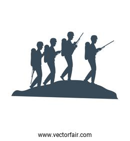 soldiers trops silhouette icon