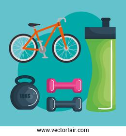 healthy lifestyle and sports icons