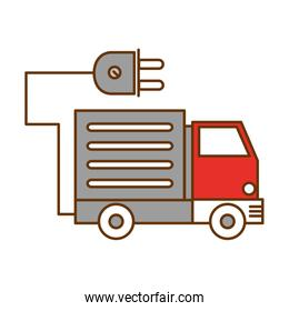 eco truck vehicle with energy connector
