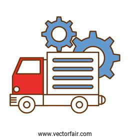 truck vehicle with gears