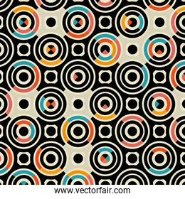 colors circles pattern background
