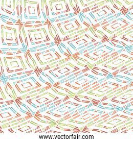 geometric figures colorful background