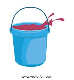 color powder in bucket plastic holy celebration