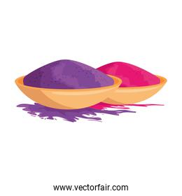 ceramic container with color powder holy celebration