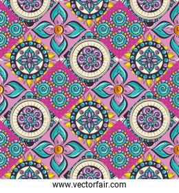 colorful and circular mandalas pattern background