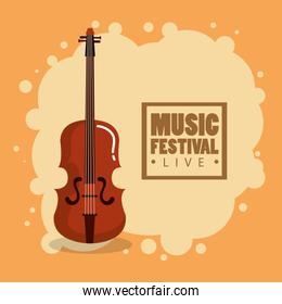 music festival live with violin