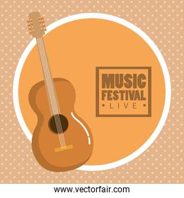 music festival live with acoustic guitar