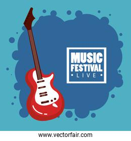 music festival live with electric guitar